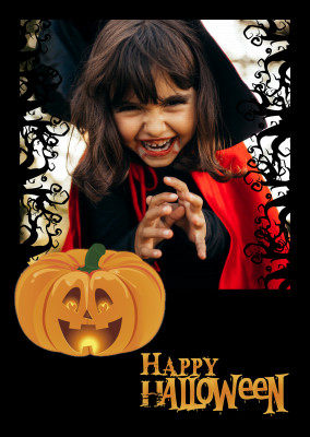Over-Night-Design Halloween Postkarte Happy Halloween