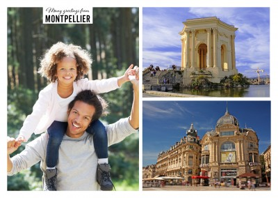 Montpellier Collage mit zwei Fotos