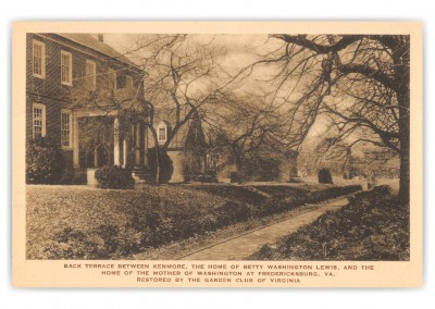 Fredericksburg, Virginia, Terrace between Kenmore