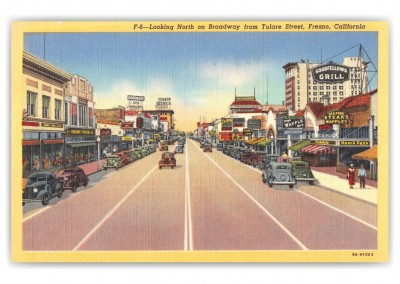 Fresno, California, Looking North on broadway