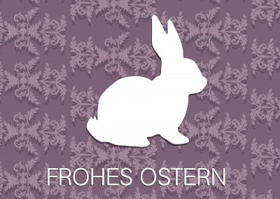 Over-Night-Design Muster frohes Ostern