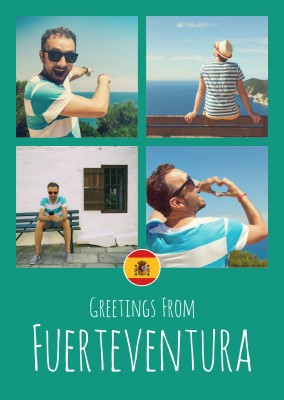 greeting card Greetings from Fuerteventura