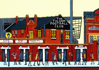 Illustration Södra London Konstnären Dan Fulham Football Club