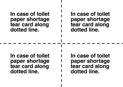 postcard Toilet paper shortage