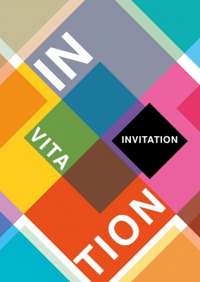 Geometric invitation postcard event