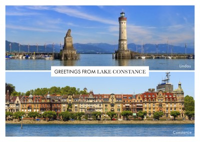 photocollage Lake Constance Linday and Constance