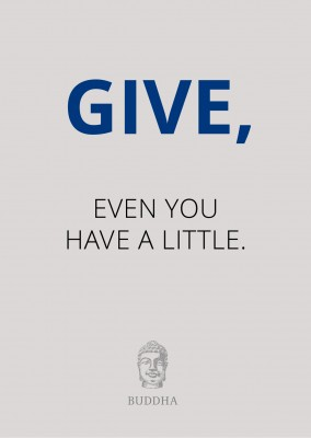 Give, even if you have litte