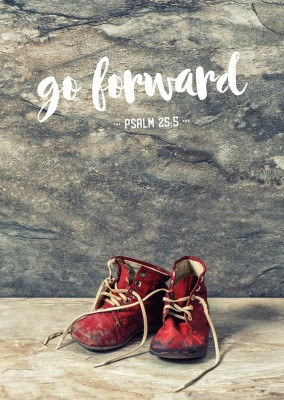 postcard SegensArt go forward psalm