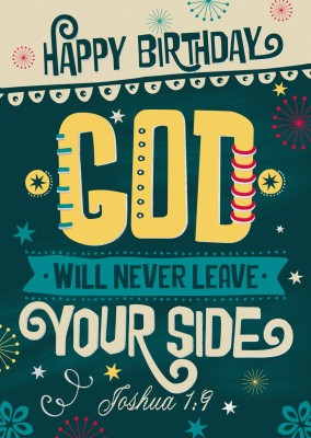 postcard SegensArt God will never leave your side