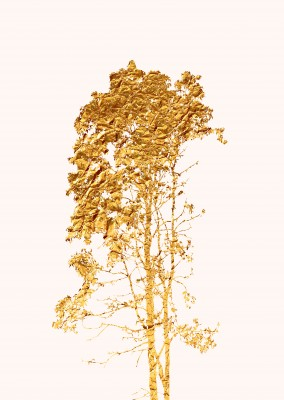 Kubistika andere Baum in gold