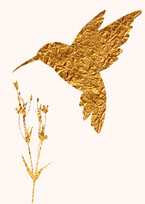Kubistika golden hummingbird