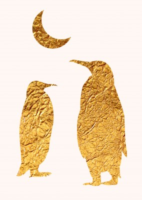 Kubistika golden penguins