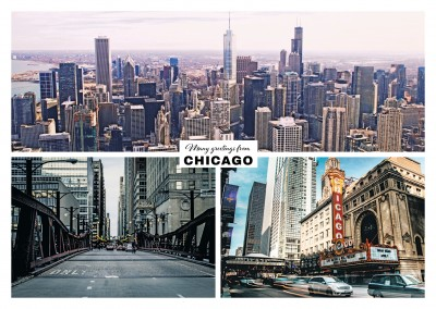 Chicago's skyline from three different perspectives