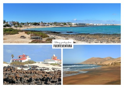 Fuerteventura's mountainous strip and sand beach