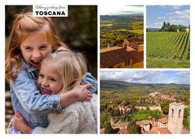 the tuscan country life in three photos