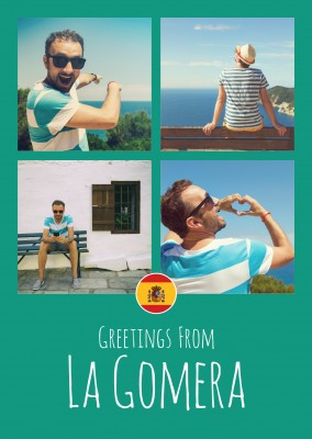 greeting card Greetings from La Gomera