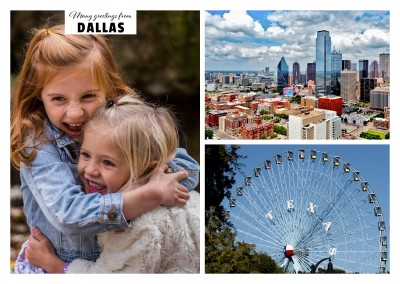 A View of the Skyline of Dallas and Texas Star Ferris Wheel