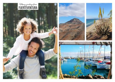 three photos from Fuerteventura