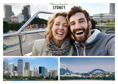 Sydney's Port Jackson and harbour bridge in two photos