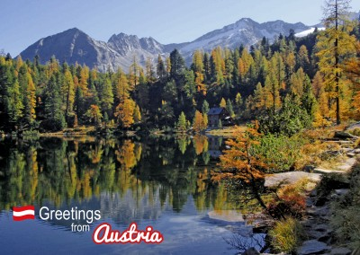 Postcard with photo from austria