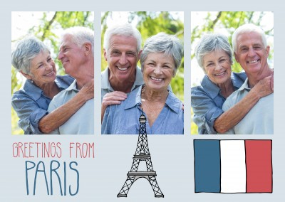template with illustrations from Paris