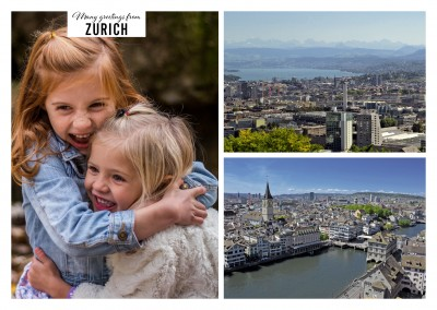 Historical old town of Zurich and new business quarter