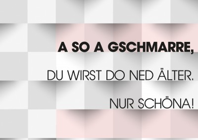 Over-night-Design A so a Gschmarre