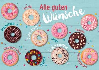 Illustration bunte Donuts