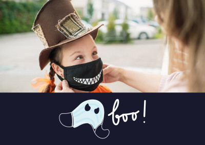 boo! - mask as a ghost