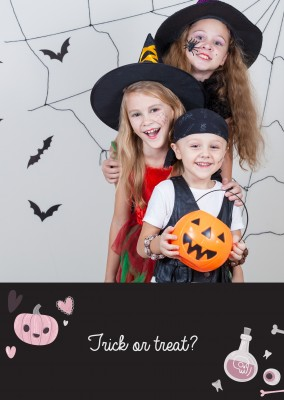 Template with Halloween elements