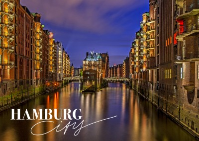 Postcard with photo of Hamburg