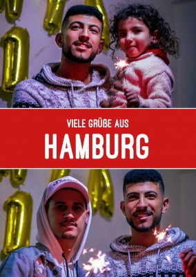 Hamburg greetings in Hamburg colour sceme
