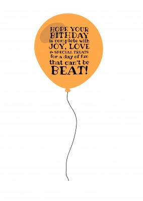 balloon with font on it