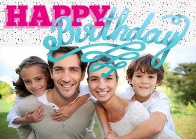 personalize happy birthday greeting card with space for one photo