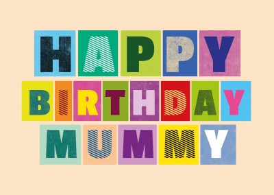 happy birthday mummy postcard design layout