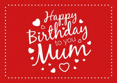 Happy Birthday To You Mom Red Postcard
