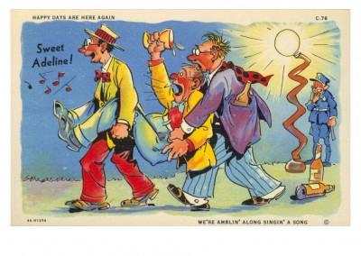 Curt Teich Postcard Archives Collectionchee Happy days are here again