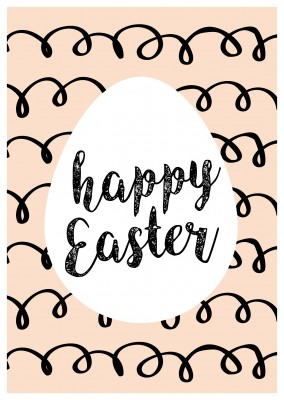 pastel colored background with Easter egg