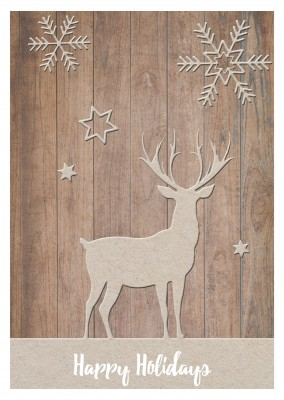 reindeer wood cut