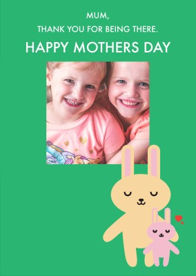 Happy Mothers Day Rabbits Template