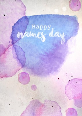 Card with watercolors