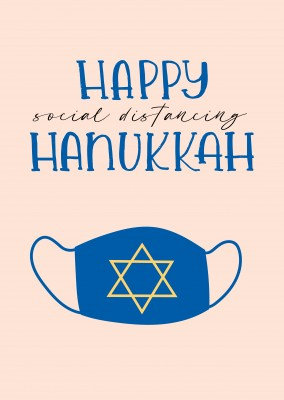 Happy social distancing Hanukkah