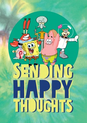 Sending Happy Thoughts! - Spongebob characters