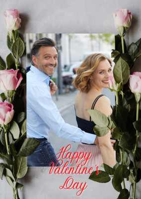 postcard Happy Valentine's Day