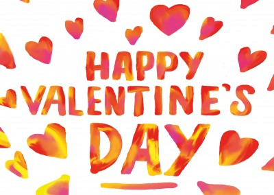 happy valentines day postcard