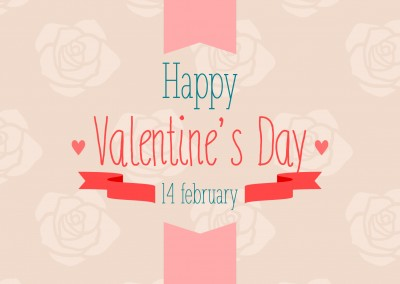 happy valentines postcard design quote