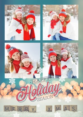 Happy Holidays retro design