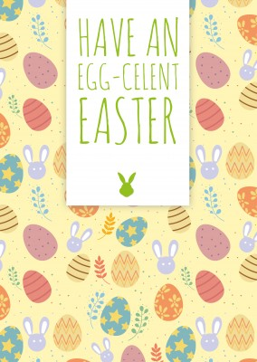 have an egg-celent easter with easter pattern background