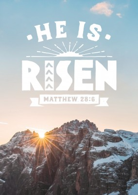 postcard SegensArt He is risen Matthew 28:6