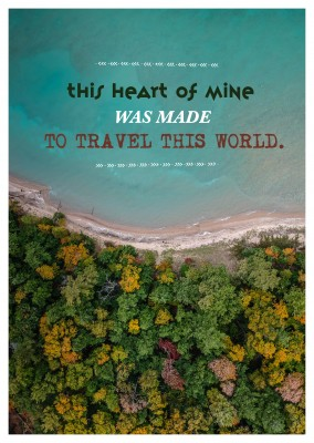 Postkarte Spruchthis heart of mine was made to travel this world